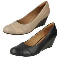 Standard (D) Wedge 100% Leather Upper Heels for Women