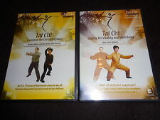 2 DVD TAI CHI Exercise For The Workplace Relieve Stress Energy QIGONG Well Being