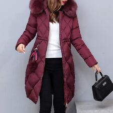 Warm Winter Lady Women Quilted Coat Hooded Parka Overcoat Long Jacket Outwear