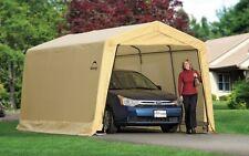 ShelterLogic 10X15x8 Auto Shelter, 1-3/8 4-Rib Peak Style Frame, Sandstone Cover