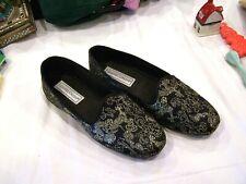 Daniel Green  black and gold slippers, sz. 7 W
