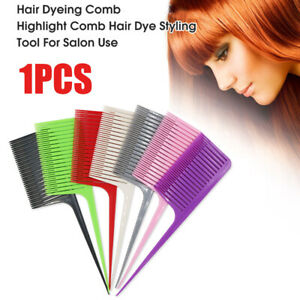 Hair Highlight Weave Comb Tail Pro hair Dyeing Comb Weaving Cutting Comb l