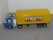 Vintage Ertl STRUCTO Van Lines Semi Truck Tractor Trailer Toy 22 inches EARLY