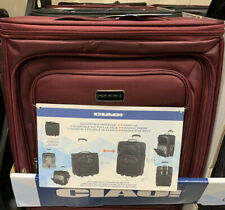 CIAO Softside Convertible Underseat Carry On Wheeled Tote, Travel Luggage