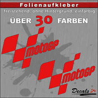 2er SET - MOTOGP Sponsoren-Folienaufkleber - Auto/Motorrad - 30 Farben - 18cm