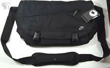 Nike Cordura Messenger Bag Black Laptop Shoulder Strap Adjustable