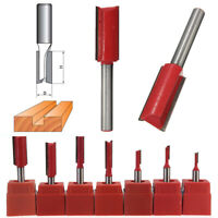 """High Quality 1/2"""" 1/4"""" inch Shank Straight Metric Router Cutter Bit Woodwork Red"""