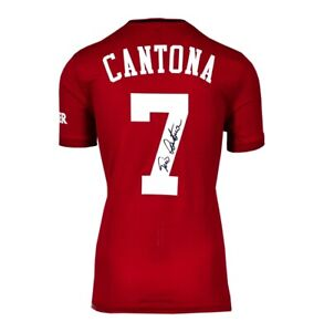 Eric Cantona Signed Manchester United Shirt - Home 2019-2020 Autograph