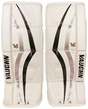 New Vaughn 800 Goal ice hockey leg pads 22 Black/Silver V6 youth/junior goalie