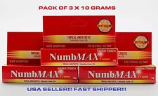 NumbMAX Topical Anesthetic Cream for Tattoo 3 x 10g Brand New