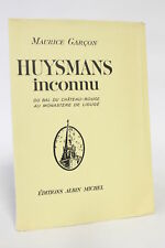 SARTRE Huysmans inconnu FIRST EDITION NUMBERED 1941