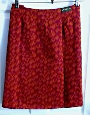 New EDDIE BAUER Womens 10 Knee Length Multi Color Tie Dye Cotton Skirt + Pockets