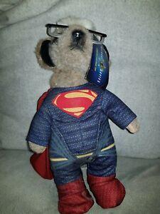 SUPERMAN MEERKAT MOVIES LIMITED EDITION PLUSH BATMAN & SUPERMAN COLLECTIBLE