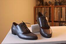 Kors Michael Kors Metallic Gunmetal Leather Lace Up Oxfords Shoes Size 7.5 M