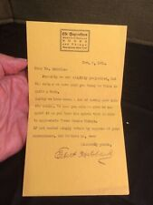 1902 Letter Signed by Elbert Hubbard The Roycrofters