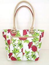 "Tignanello ""Painted"" Floral Shoulder Bag/Tote Geraniums"