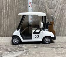 MINI GOLF CART ~ KINSFUN ~ 4.5'' Diecast Model Pull Back Toy ~ #22 ~ golf clubs