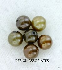 AAA 5 MM+ Bronze Freshwater Peacock Half Drilled  Round Pearls 6 Pc Set