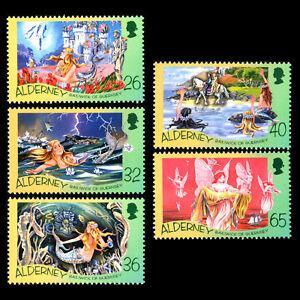 Alderney 2005 - Birth of Hans Christian Andersen, 1805-1875 - Sc 245/9 MNH