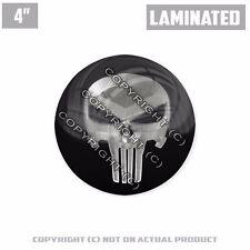 """1 Custom Thick Laminated Glossy 4"""" 3M Premium Decal Sticker PUNISHER SKULL METAL"""