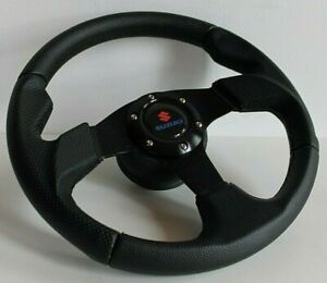 Steering Wheel Fits SUZUKI SAMURAI Sidekick Santana Jimny Swift 81-98 Leather