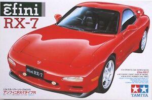 Tamiya #24110 1/24 Scale Model Sport Car Kit Mazda Efini RX-7 FD-3S