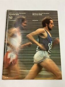 Excellent GAMES OF THE XXI OLYMPIAD MONTREAL 1976 OLYMPIC Athletics PROGRAM 9A-1