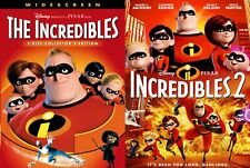 The Incredibles 1 and 2 Dvd Set (Combo Pack Box Set) Brand New! Free Ship