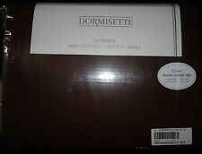 DORMISETTE GERMAN LUXURY Cotton FLANNEL 3PC QUEEN DUVET COVER SET chocolate NEW