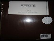 DORMISETTE GERMAN LUXURY Cotton FLANNEL 3PC QUEEN DUVET COVER SET chocolate NEW