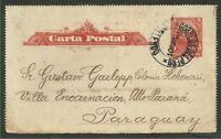 PERU TO PARAGUAY Postal Stationery 1901