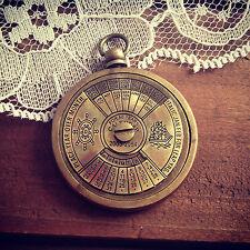 50 Year Perpetual Calendar Pendant Charm Antique Brass Nautical Vintage Style