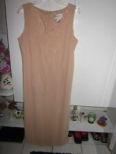 STUDIO DESIRE NEW YORK - SLEEVELESS BEIGE DRESS SIZE 14