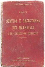 MANUALE HOEPLI ROSCI STATICA E RESISTENZA DEI MATERIALI 1930