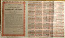 ITT/International Telephone Telegraph SPECIMEN UK Stock/Bond Certificate - Red