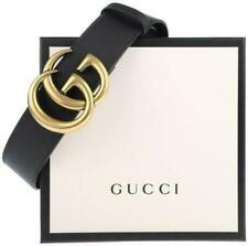 GUCCI Double G belt original black leather women belt 4CM BELT SIZE 70/28 UNISEX