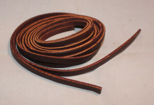 "Lace Leather Strings - 1/4"" x 36"" - Burgundy Latigo - 1 Pair (F150)"