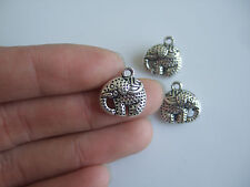 10 x Tibetan Silver Tone 3D Elephant Charms Pendants Beads For Jewellery Making