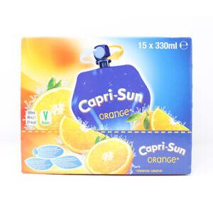 Capri-Sun Orange Juice Drink Sport Resealable Pouch Kid Party Box (15 x 330ml)