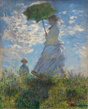 The Promenade (woman with a parasol)by Claude Monet, Canvas Print, various sizes