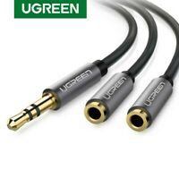 Ugreen 3.5mm Audio Stereo Y Splitter Extension Cable Male to 2 Female Fr Headset