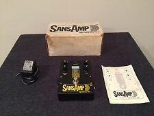 Tech 21 Made in USA SansAmp Original Guitar Effects Pedal W/Power Supply