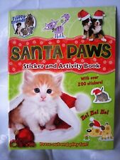 Christmas Gift Santa Paws Sticker and Activity Book New Over 200 stickers