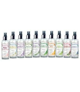 Organic Natural Floral Water 150ml x5 Mix & Match Rose Lavender Tea Tree etc