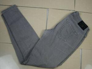 TRUE RELIGION CASEY Low Rise Super Skinny Jeans Damen W30 Grau wNEU