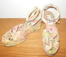 FERNANDO PENSATO WOMENS SHOES MULTI COLORED CORK WEDGE SANDALS EUC SIZE 7