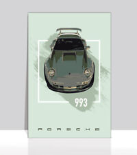 """Porsche wide body 993 Poster Aluminum 36""""x 24"""""""
