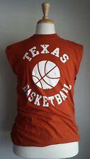 Foot Locker Orange Texas Sleeveless Basketball Shirt Sz L