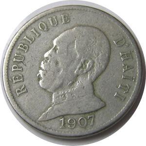 elf Haiti 50 Cent 1907 President  Waterbury Mint