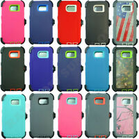 For Samsung Galaxy S6 Rugged Defender Case Cover w/Belt Clip fits Otterbox